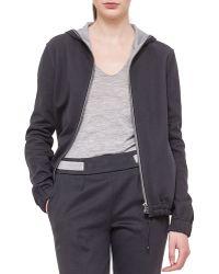 Akris Cashmere-blend Reversible Hooded Jacket - Black