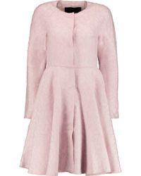 Giambattista Valli Flared Jacquard Coat - Pink