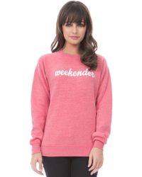 Suburban Riot | Weekender Sweatshirt In Faded Red | Lyst