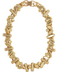 River Island Gold Tone Chunky Stone Necklace gold - Lyst