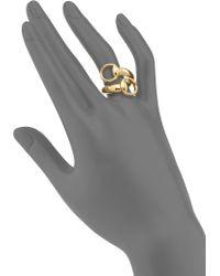 Gucci   Horsebit 18k Yellow Gold Ring   Lyst