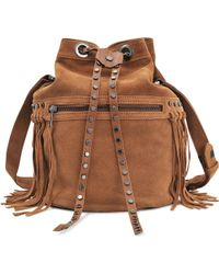Zadig & Voltaire Bobo Gipsy Bucket Bag - Brown