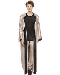 La Perla Silk Blend Jacquard Kimono Style Robe - Pink