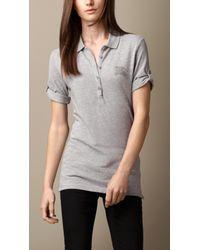 Burberry Cotton Modal Polo Shirt - Lyst