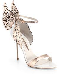 Sophia Webster Evangeline Winged Leather Sandals - Lyst