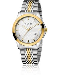 Gucci G-Timeless Collection Watch/Stainless Steel & Gold Pvd - Lyst