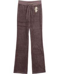 Juicy Couture Laurel Velour Track Pants - Lyst
