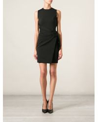 DSquared2 Black Fitted Dress - Lyst