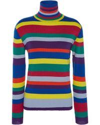 Mira Mikati Rainbow Striped Merino Turtleneck - Multicolour