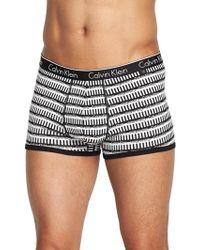 Calvin Klein Ck One Mens Mirrored Logo Trunks - Lyst