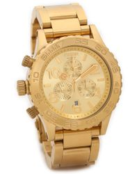 Nixon 4220 Chrono Watch  Gold - Lyst