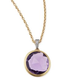 Marco Bicego Delicati Jaipur Amethyst Necklace With Diamonds - Lyst