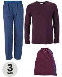 Calvin Klein Purple Pyjama Set - Lyst