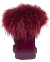 Akira Black Label - Jazzy Genuine Suede Fur Trim Boots - Lyst