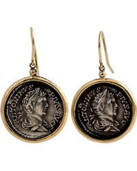 1884 Collection - Appia 18k Gold & Silver Pius Coin Drop Earrings - Lyst