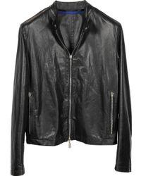Forzieri Zante Andrea Black Leather Motorcycle Men'S Jacket - Lyst