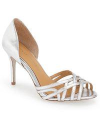 Badgley Mischka 'Muse' D'Orsay Sandal silver - Lyst