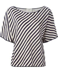 Forte Forte Striped T-Shirt Blouse - Lyst