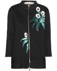 Marni Embellished Neoprene Jacket - Lyst