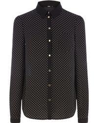 Oasis Spot Print Shirt - Lyst