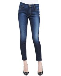 7 For All Mankind High Waist Ankle Skinny Jeans - Lyst