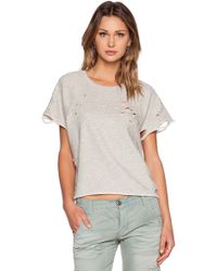 NSF Clothing Olivia Short Sleeve Sweatshirt - Lyst