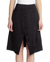 Acne Studios Pine Tech Satin Skirt - Lyst