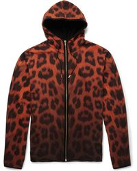 Katie Eary - Leopardprint Cottonjersey Hoodie - Lyst