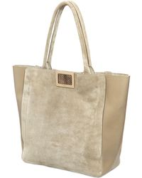 Roger Vivier Large Ines Suede  Leather Tote Bag - Lyst