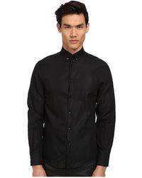 Versace Medusa Textured Solid Shirt - Lyst