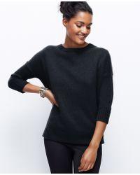 Ann Taylor Cashmere Boyfriend Sweater - Lyst