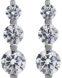 Carat* - 3 Times Round Drop Earrings - Lyst