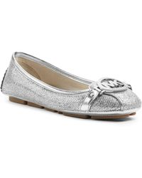 Michael Kors Fulton Glitter Leather Moccasin - Lyst