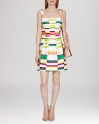 Karen Millen Dress - Bold Stripe Collection multicolor - Lyst