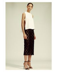 Yigal Azrouël | Hibiscus Lace Skirt | Lyst