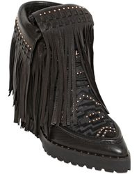 Ivy Kirzhner - 120Mm Leather Wedge Ankle Boots - Lyst
