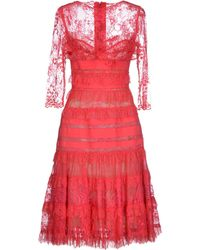 Elie Saab Pink Knee-Length Dress - Lyst
