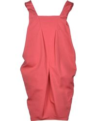 Saint Laurent Pink Short Dress - Lyst