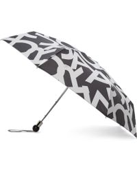 Marc By Marc Jacobs - Black And Grey Bold Logo Umbrella - Lyst