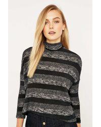 Sparkle & Fade - Brushed Striped Marled Turtleneck - Lyst