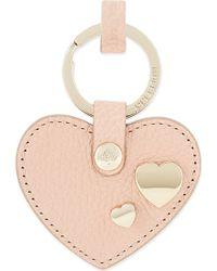 Mulberry - Heart Rivet Keyring, Women's, Rose Petal - Lyst
