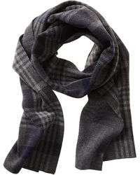 Banana Republic Plaid Extra Fine Merino Wool Scarf - True Navy - Lyst