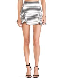 Joa Striped Embo Skirt - Lyst