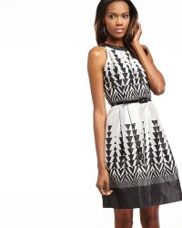 Muse Sleeveless Geometricpattern Sateen Dress - Lyst