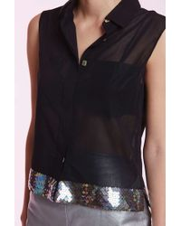 Chanel | Vintage Riva Sequin Blouse | Lyst