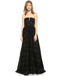 Alice + Olivia Axmis Bustier Full Gown - Lyst