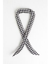 Ana Accessories Inc - Through The Wire Headband In Black Gingham - Lyst