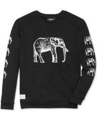 Wesc Clint Art Elephant Fleece Pullover - Lyst