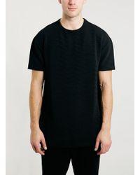 Topman Black Chevron Oversized Fit T-shirt - Lyst