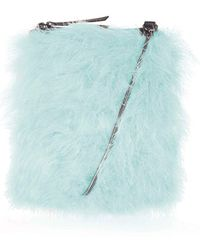 Topshop Zeb Feathered Cross-Body Bag blue - Lyst
